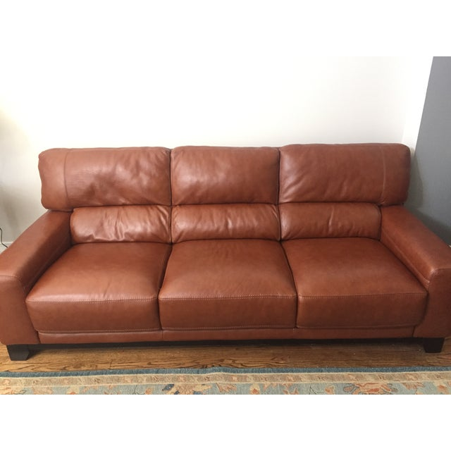Brown Leather Couch - Image 4 of 4