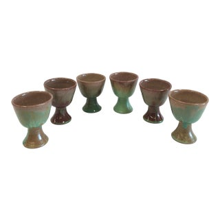 Studio Pottery Glazed Goblets - Set of 6