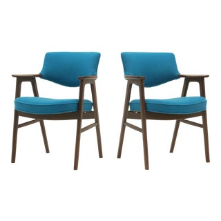 "Pair of Erik Kirkegaard Rosewood ""Elbow"" Armchairs for Hong Möbelfabrik"