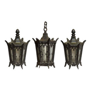 Lamp Post Tops & Entry Lantern - Set of 3