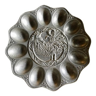 Pewter Deviled Egg Serving Dish