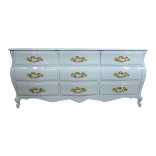 Ruder New York Lacquered Gray Mahogany Chest of Drawers