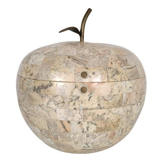 Maitland Smith Tessellated Stone Apple Box