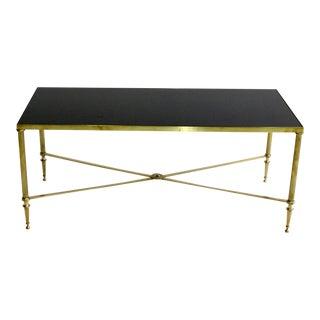 Mid-Century Black Top Coffee Table