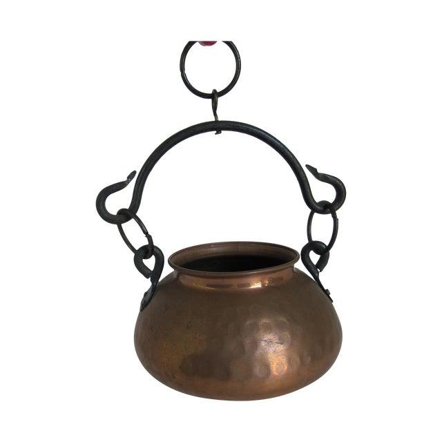 Hanging Turkish Copper Pot - Image 1 of 6