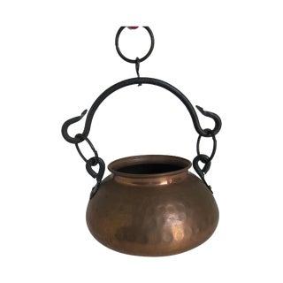 Hanging Turkish Copper Pot