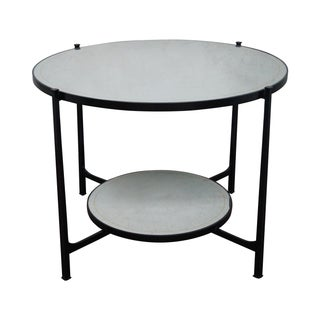 Jonathan Charles Transitional Iron Frame Table