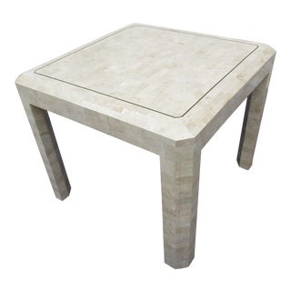 Maitland Smith Tessellated Coral Stone Side Table