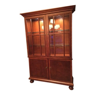 Baker Furniture Burl Wood China Cabinet