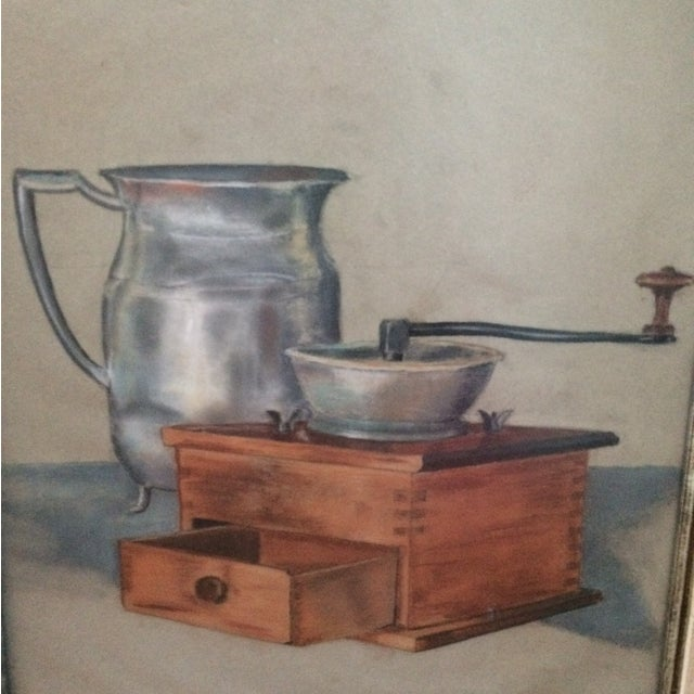 Vintage Original Pastel Still Life - Image 4 of 7