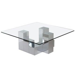 Paul Evans Style Chrome Cityscape Coffee Table