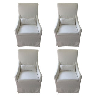Restoration Hardware Slipcovered Chairs - Set of 4