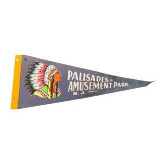Palisades Amusement Park NJ Felt Flag