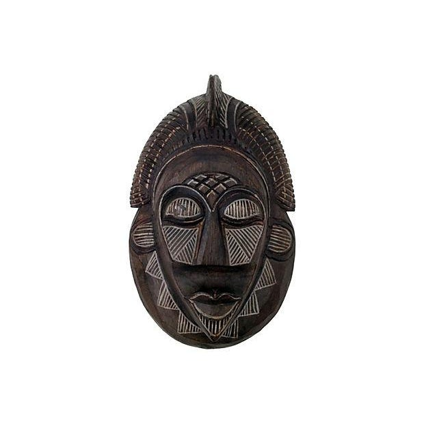 Indonesian Handcarved and Painted Tribal Mask - Image 1 of 6