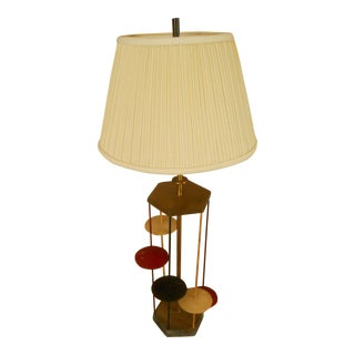 Mid-Century Floating Disk Table Lamp