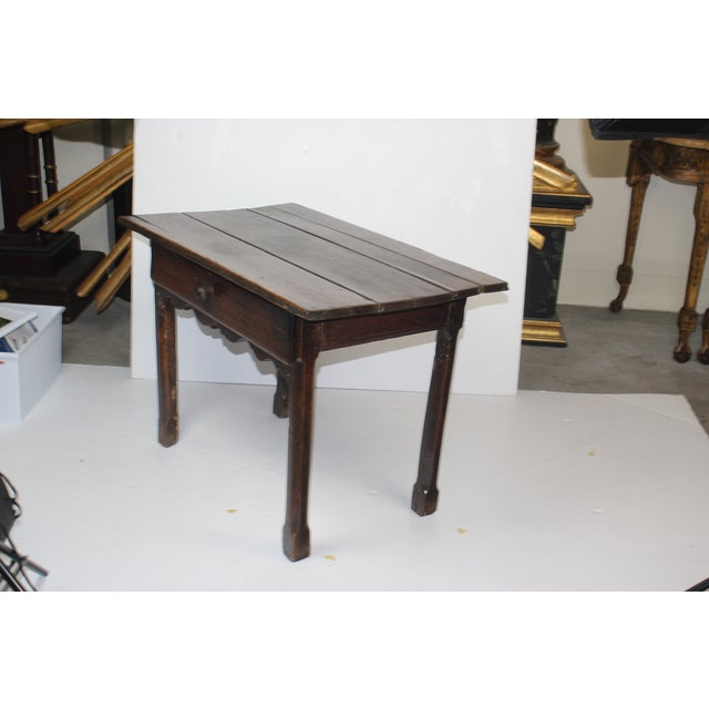 French Provincial Side Table with Drawer - Image 3 of 6