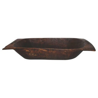 Early 19th Century Hand-Carved Dough Bowl