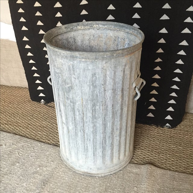 Vintage Galvanized Metal Barrel Bucket - Image 2 of 9