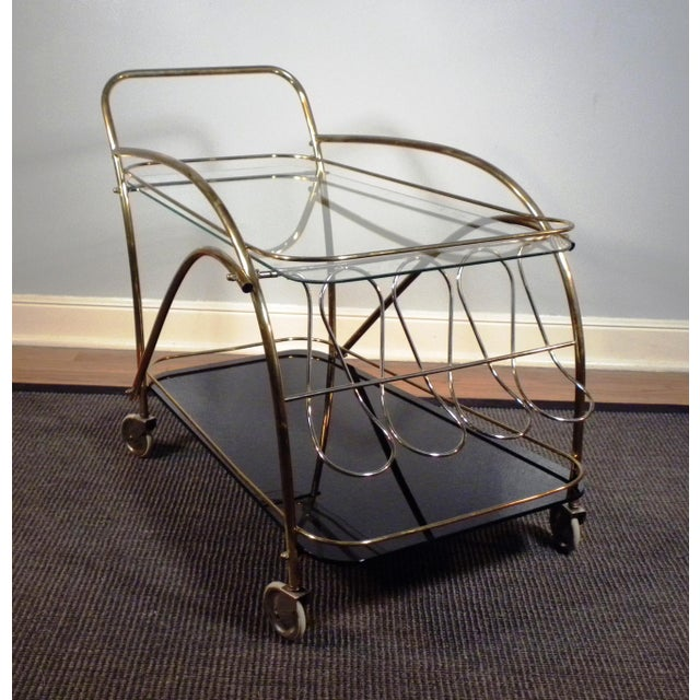 Vintage Deco Style Bar Cart - Image 6 of 8