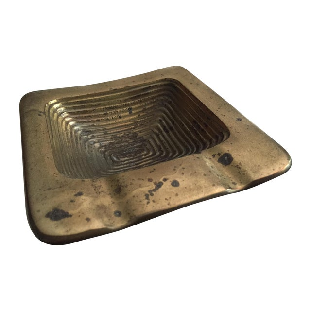 Ben Seibel Brass Square Ashtray - Image 1 of 6