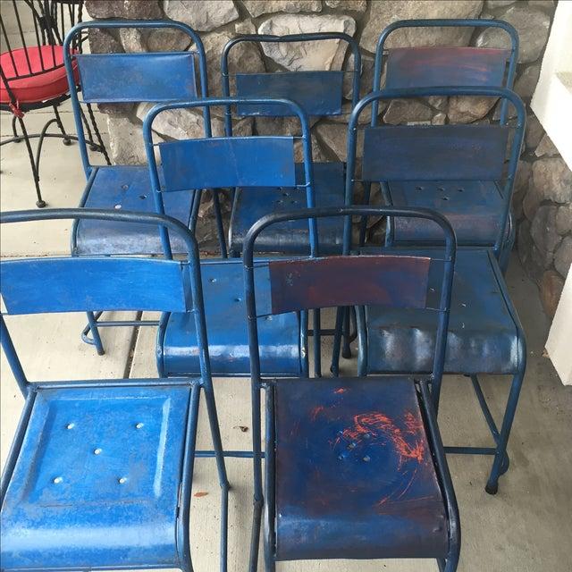Vintage Bali Metal Garden Chairs - Set of 7 - Image 5 of 7