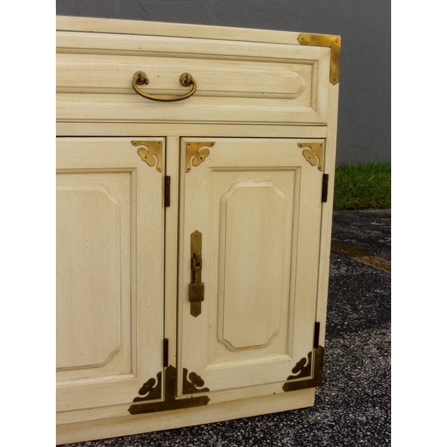 Vintage Asian Style Cabinet With Brass Hardware Chairish