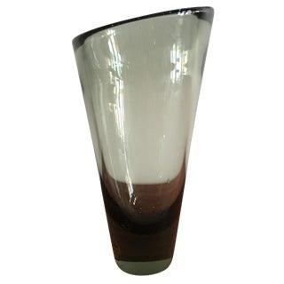 Vintage Holmegaard Per Lutken Gray Vase