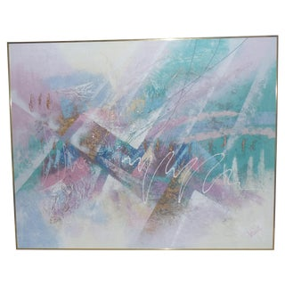 Lee Reynolds Mid-Century 3D Abstract Painting