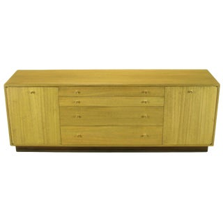 Harvey Probber Bleached Ribbon Mahogany Long Cabinet