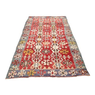 Vintage Turkish Kilim Rug - 6' x 10'5""
