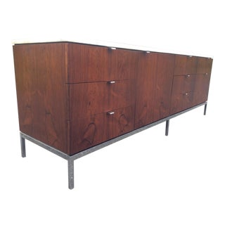 Florence Knoll Rosewood Calacatta Marble Credenza