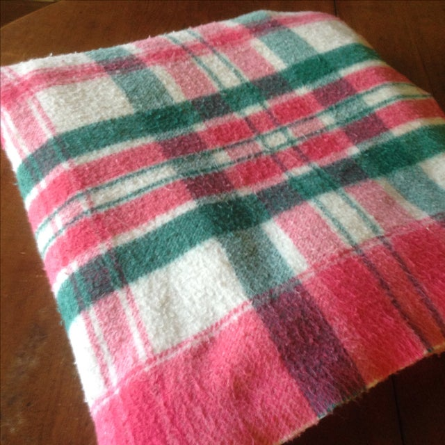 Vintage Plaid Picnic/Gameday Blanket - Image 9 of 11