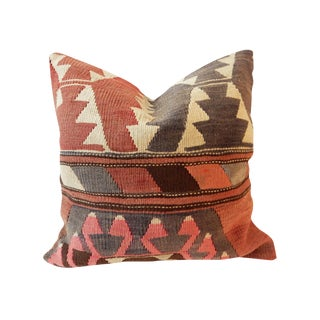 Old Caucasian Tribal Kilim Pillow