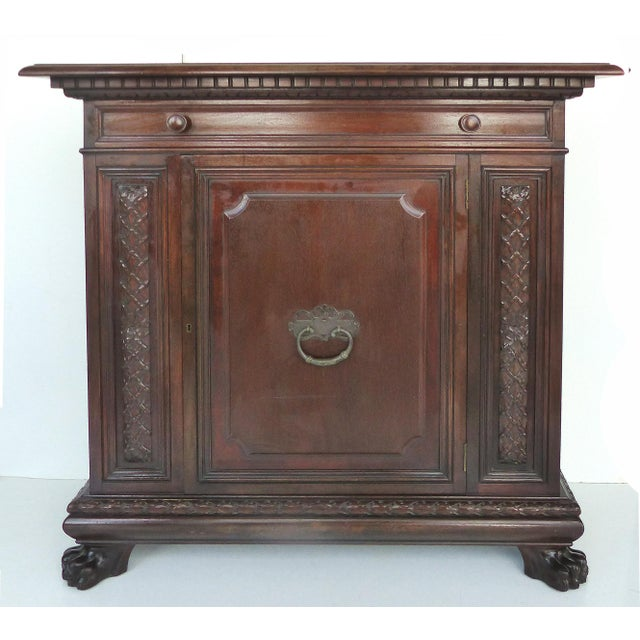 1930 S. Pagano Carved Lion Paw Cabinet - Image 2 of 10