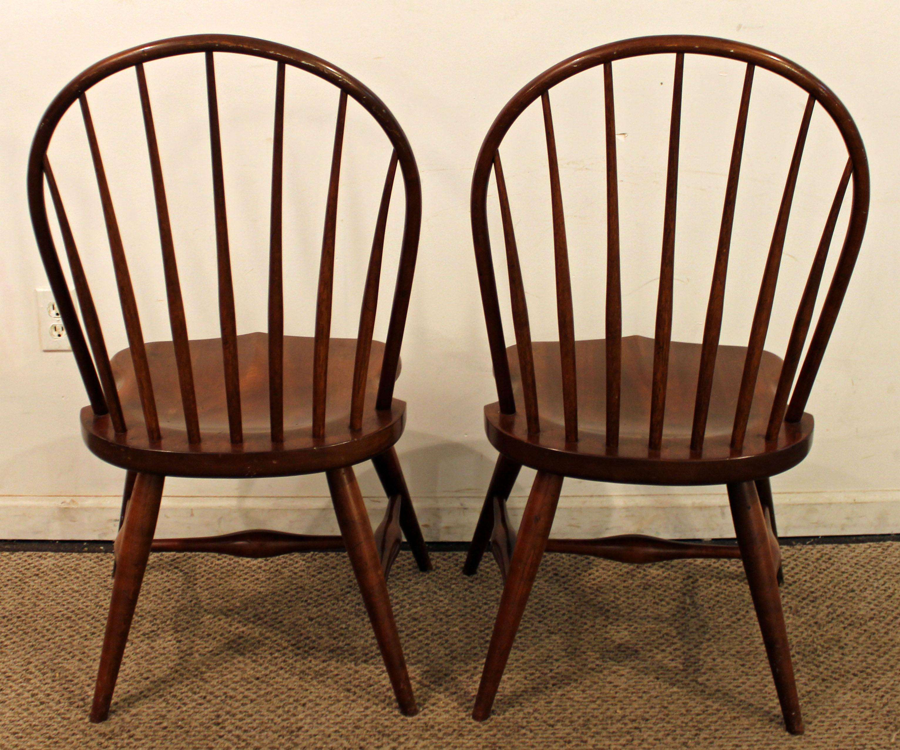 Exceptional Duckloe Bros Cherry Hoop Back Windsor Side Chairs   A Pair   Image 5 Of
