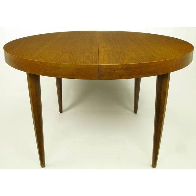 Image of Sleek Modern Walnut Dining Table in the Style of T.H. Robsjohn-Gibbings