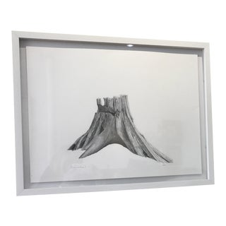 """Stumps & Axes I"" Graphite Nature Drawing"