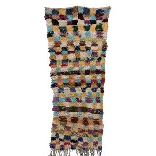 "Boucherouite Moroccan Carpet - 6'7""x2'5"""