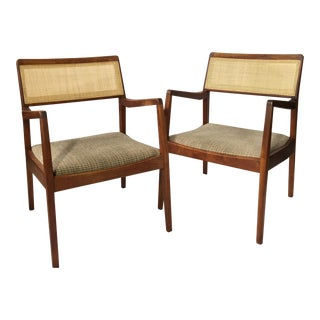 Jens Risom Mid-Century Modern C-140 Chairs - A Pair