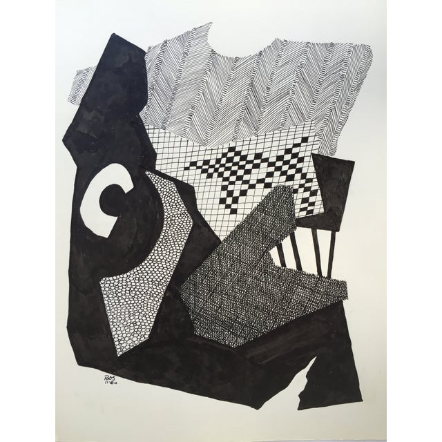 Abstract Pen and Ink Drawing by R. D. Stokes - Image 1 of 2