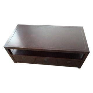 Pottery Barn Dark Brown Coffee Table