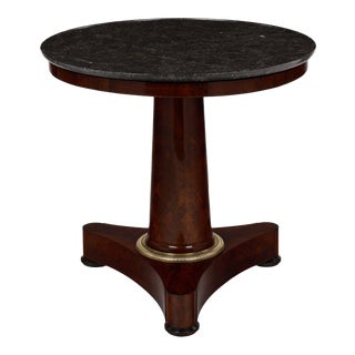 Empire Period Gueridon With Marble Top
