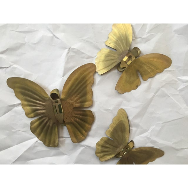 1970s Brass Butterfly Wall Hangings- Set of 3 - Image 5 of 5