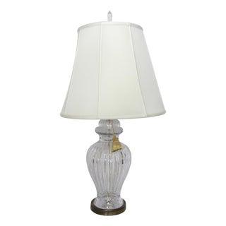 Vintage Hollywood Regency Cut Crystal Lamp
