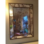 Image of Worlds Away Dion Gold Leaf Antique Mirror