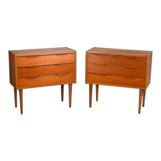 Danish Teak Nightstands or Side Tables - A Pair