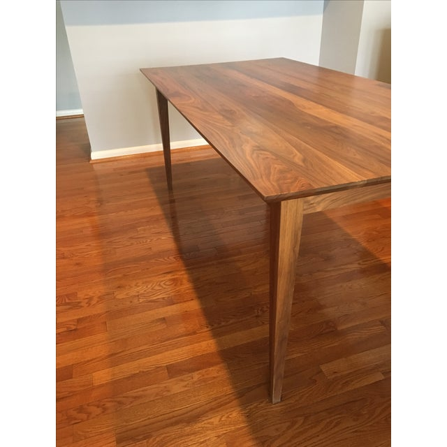 room board adams solid walnut dining table chairish. Black Bedroom Furniture Sets. Home Design Ideas