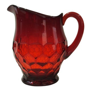Georgian Ruby Red Glass Pitcher by Duncan Miller