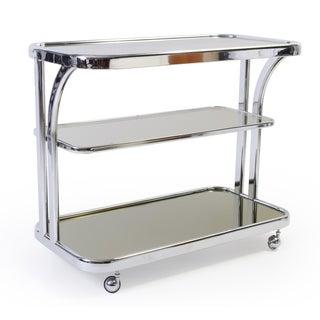 Art Deco Chrome Bar Cart