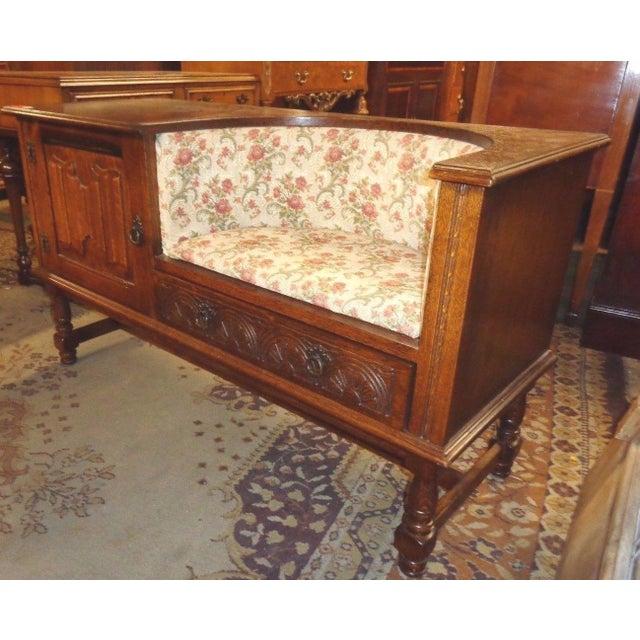 Edwardian Mid-Century Telephone Sofa Bench - Image 4 of 11